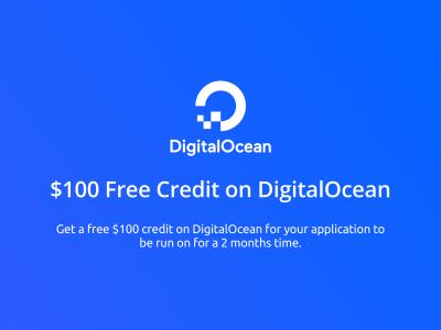 $100 Free Credit on Digitalocean