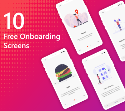 10 Free onboarding screens for XD