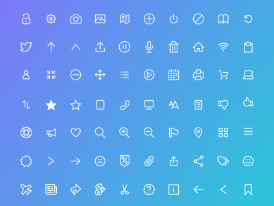 100 Free Flat icons for XD