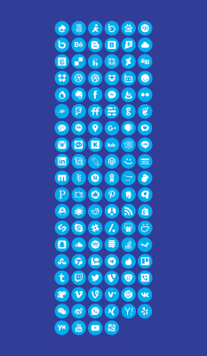 112 Free Social icons for XD