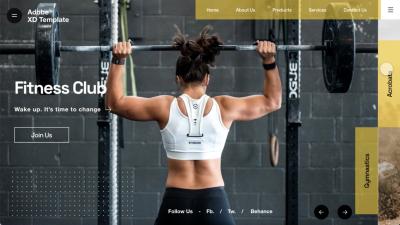 Gym UI Web Template