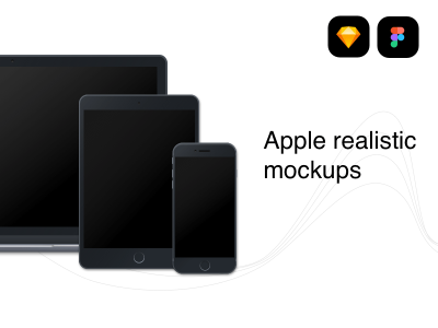 Apple Devices Realistic Mockups for Figma