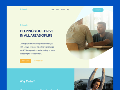ThriveTalk health care landing page for Figma