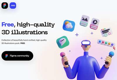 3D Figma Illustration Pack