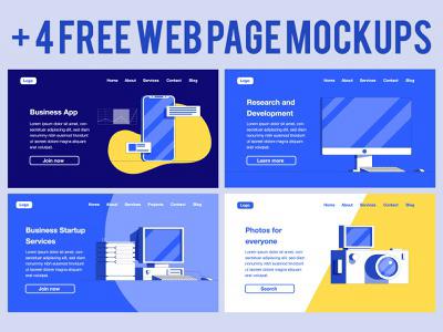 4 Free Web Page Mockups