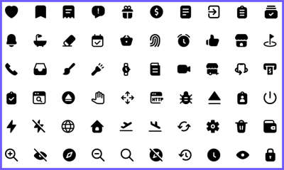 400+ Filled Icons Pack