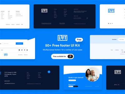 50+ FREE Footers UI Kit