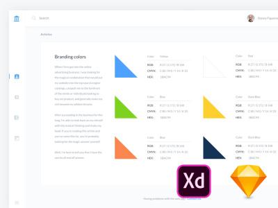 6 Adobe XD Dashboard templates