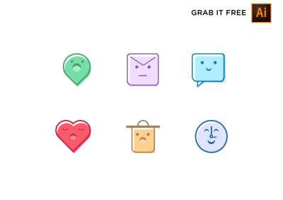 6 Cute & Sweet Free Icons