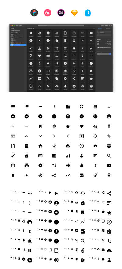 64 Free Essential Icons for Figma