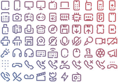 67 Devices Icons