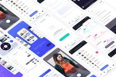 Atro Mobile UI Kit Freebie for Figma