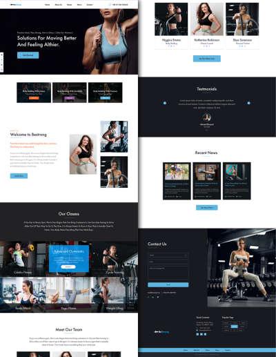 Bestrong Fitness Webdesign
