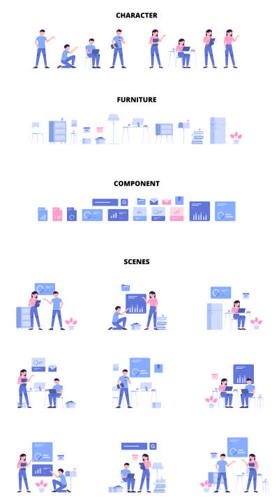 Bush Modular Illustration Kit for Figma