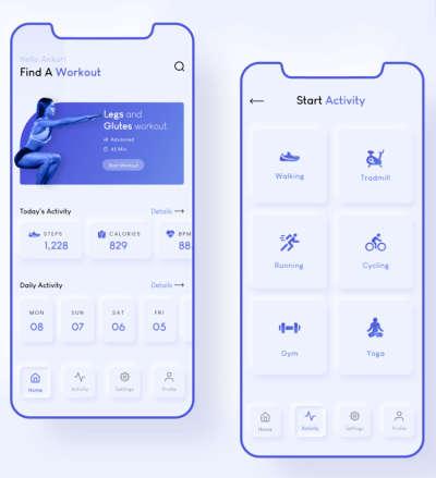 Modern Fitness App Design