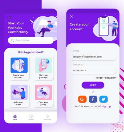 Chased Home UI Design