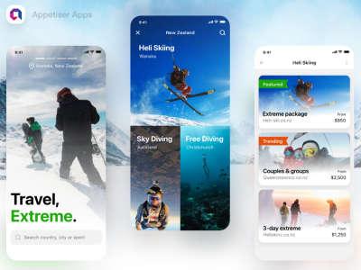 Extreme Travel App Design