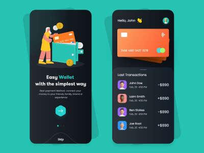 Flat Design Wallet App