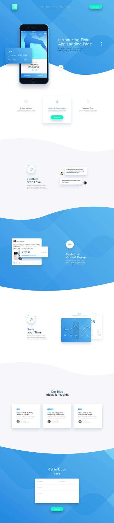 Flok App Landing Page