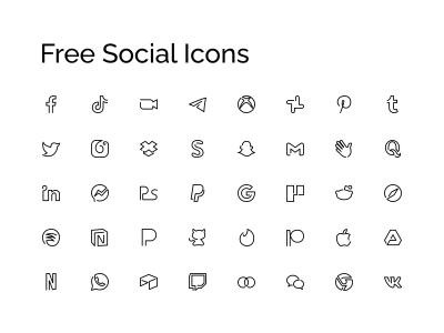 Free Minimal Social Icons
