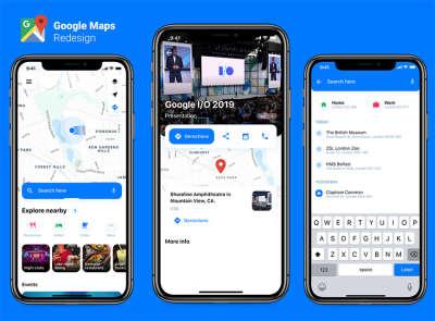 Google Map Redesign
