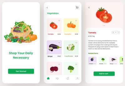 Grocery Shop App Design