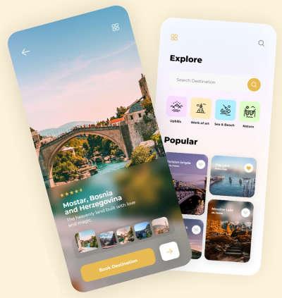 Minimal Travel App Design