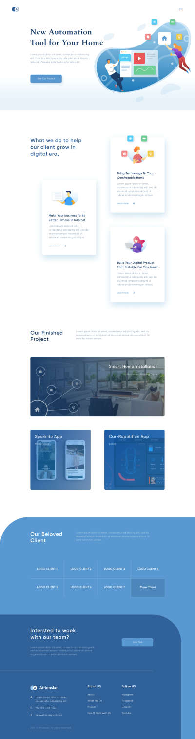 Smart Home Landing Page for Figma