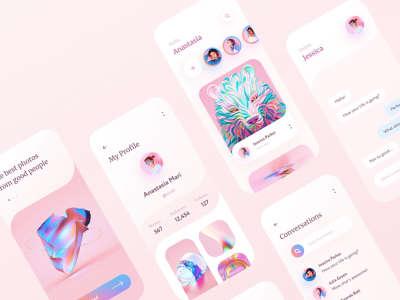 Social Mobile App Design