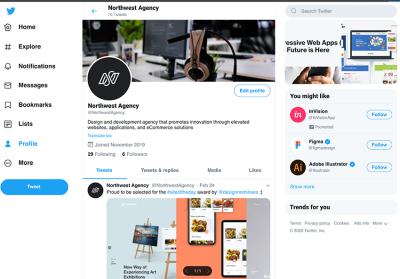 Twitter Start Page Mockup