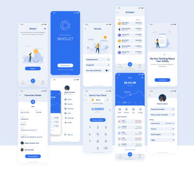 Whollet Crypto Wallet Free UI Kit for Figma