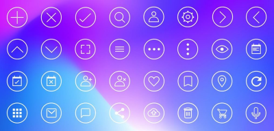 Adobe XD 32 icons set