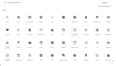 1000 Free Material Icons for Adobe XD