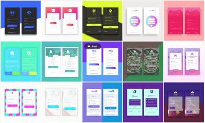 15 App Login Templates XD