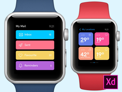 Apple Watch Design Concepts for Adobe XD