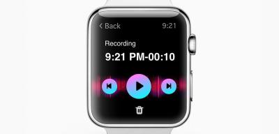 Apple Watch voice recording concept