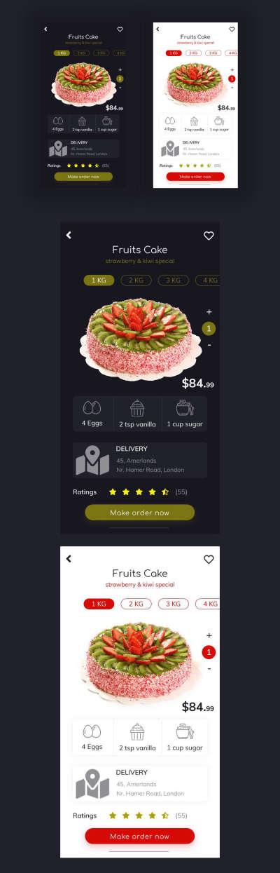 Bakery Food Shopping UI