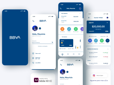 BBVA XD free banking app template