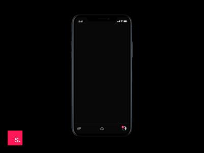 Black Dribbble - Mobile UIX Animation