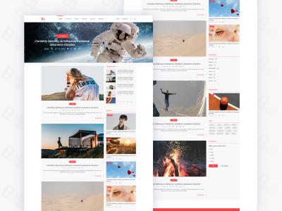 Blog feed web XD template