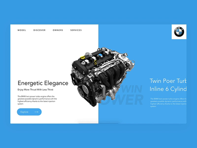 BMW Engine Overview page Interaction