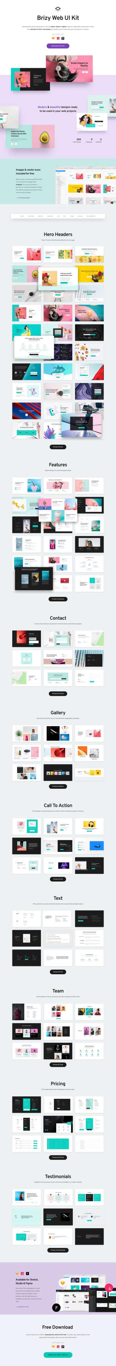 Brizy Web UI Kit for Figma