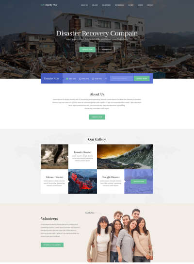 Charity Free Web Template