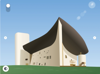 Church illustration made with Adobe XD