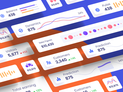 Component library for dashboards and presentations