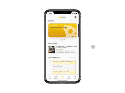 Concept of a Job searching app