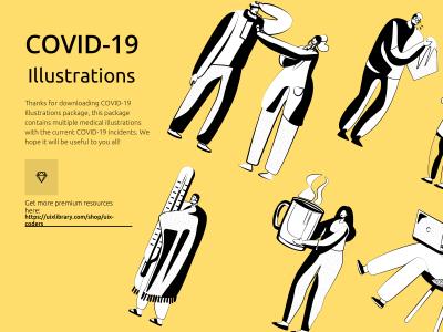 COVID-19 Coronavirus Illustrations Freebie