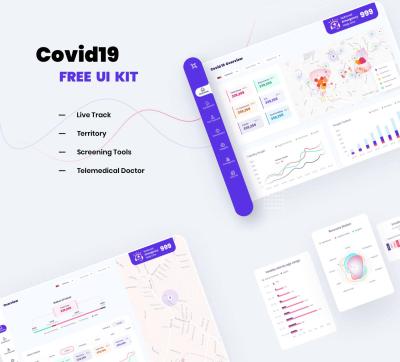 Covid 19 Free XD Dashboard UI kit