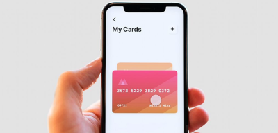 Credit card animated checkout screen