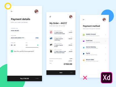 Credit card checkout concept